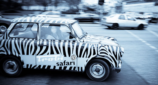 Zebra-striped Trabi safari, Berlin