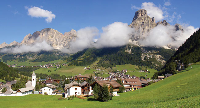 Mountain village in Italy in summer
