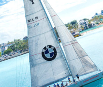 BMW Bahamas branded yacht
