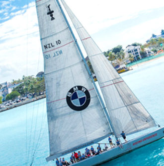 BMW Bahamas branded yacht
