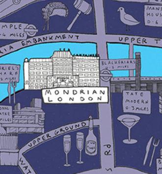 Mondrian London illustration