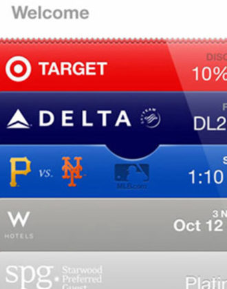 Screenshot of the Passbook app