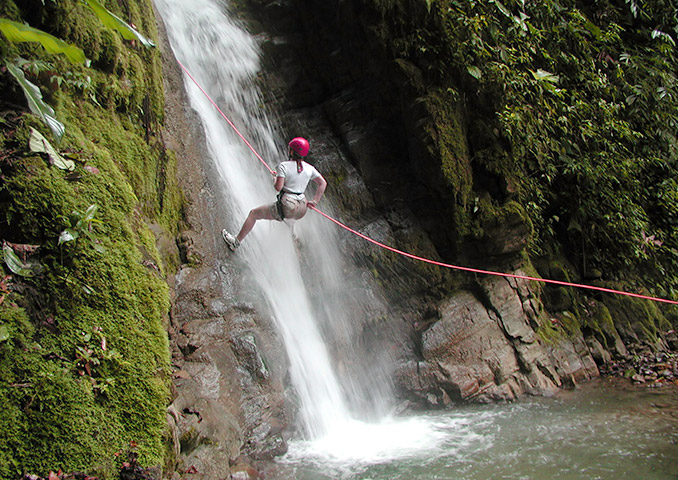 Abseiling Down a Waterfall in Costa Rica