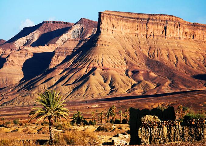 Desert oasis, Morocco