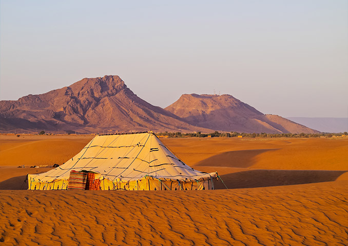 Private desert camp in Morocco