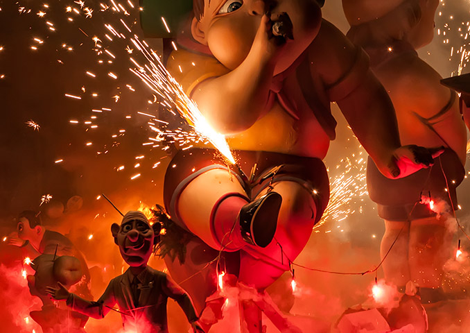 Las Fallas Celebrations in Valencia