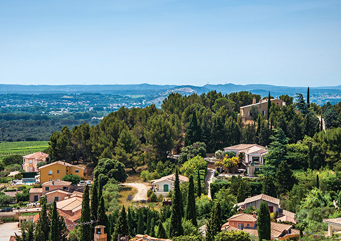 View over Provence countryside