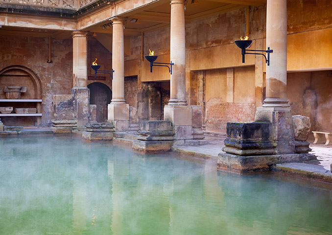 Ancient Roman Baths in the Spa Town of Bath