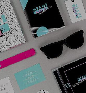 Miami Nice Incentive identity: Soundtrack CD, Sunglasses, USB Snap Bracelet and Stickers