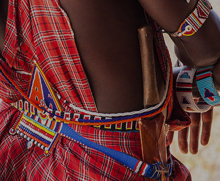 Maasai warrior clothing - Kenya safari group incentive