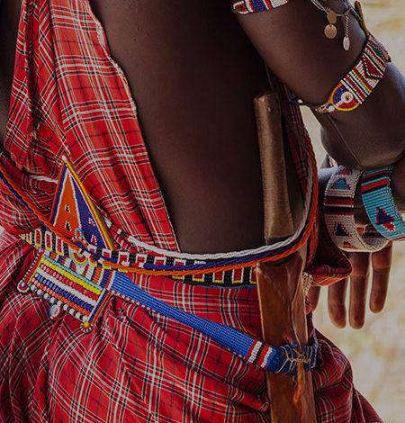 Maasai warrior clothing - Kenya safari group incentive