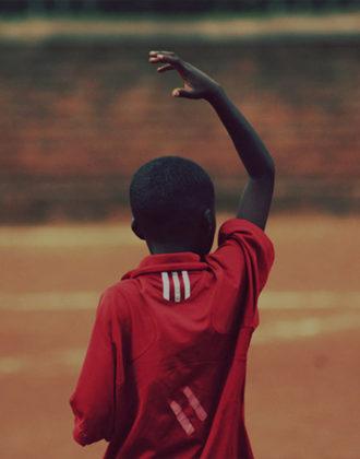 Malta Guinness Experience - young boy celebrates scoring a goal